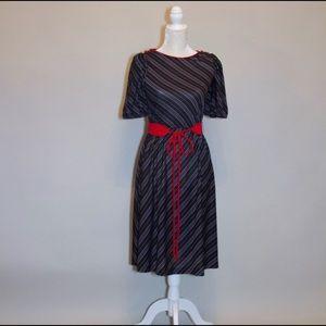 Dresses & Skirts - 1970's Vintage Striped Dress with Belt